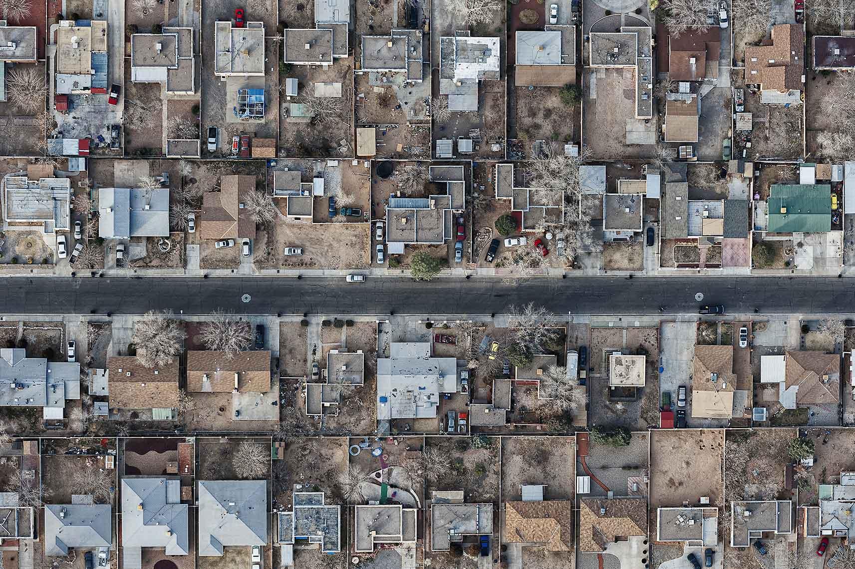 Aerial Landscape Suburbia