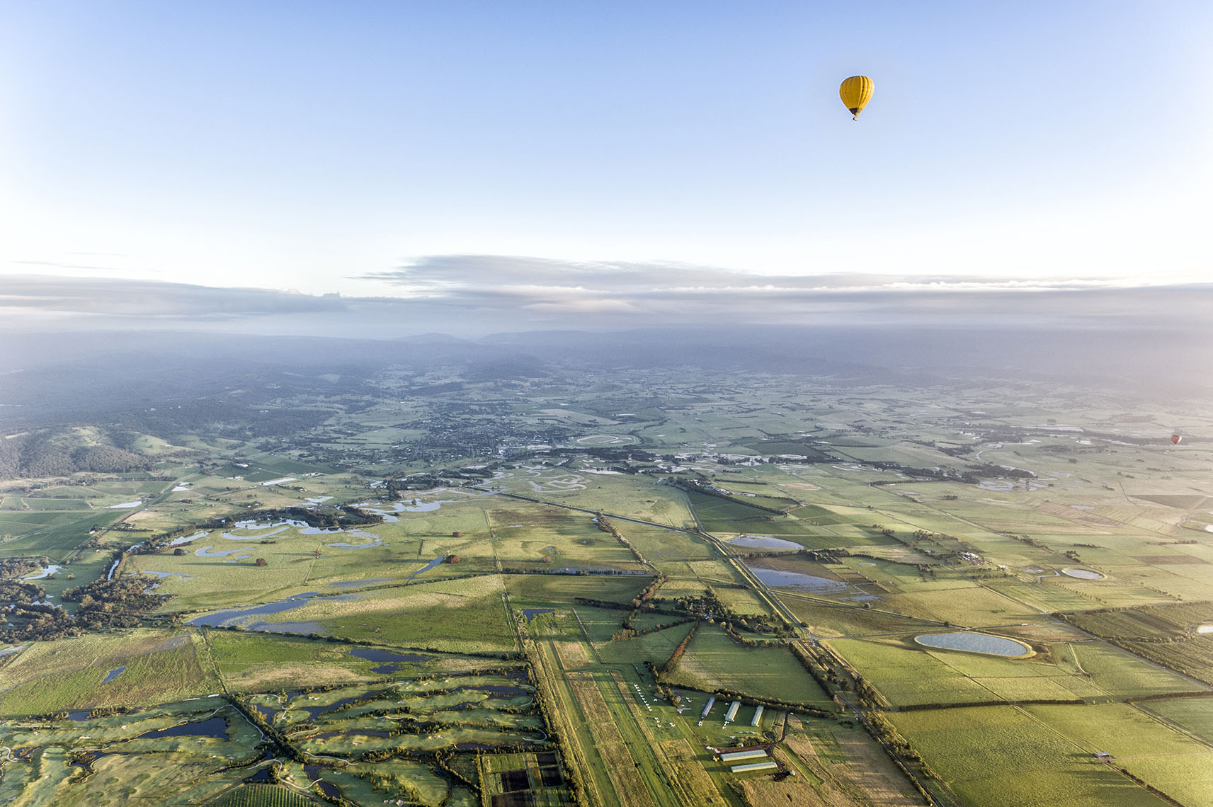 Aerial Landscape View From Balloon